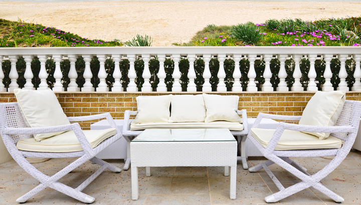 jardin de la casa de la playa