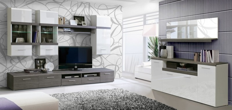 Muebles de sal n de conforama for Muebles tv conforama