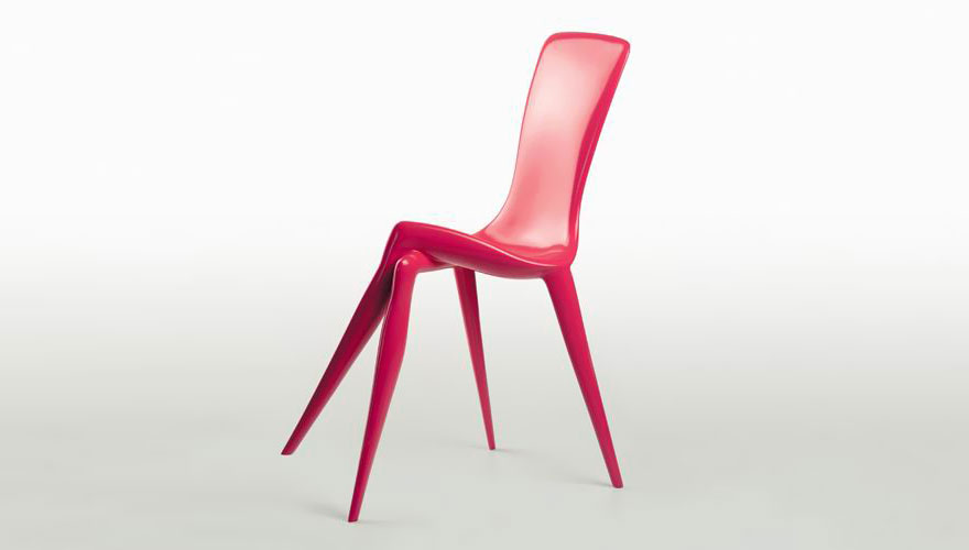silla rosa