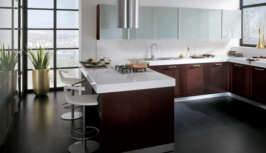 Cocinas grandes modernas una seleccin de fotos de cocinas for Cocinas chiquitas