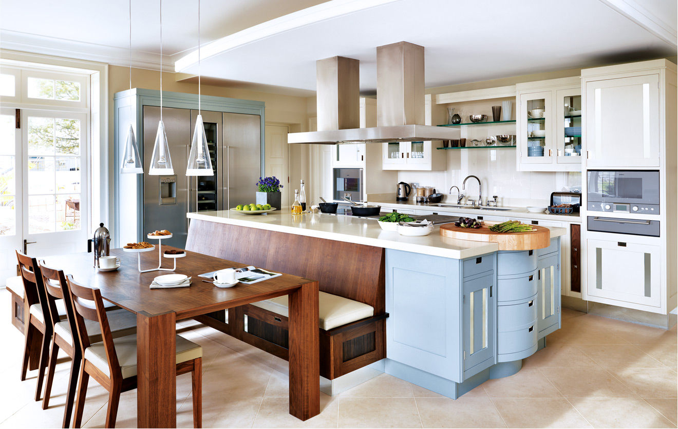 Fotos de cocinas modernas for Cocinas grandes con isla