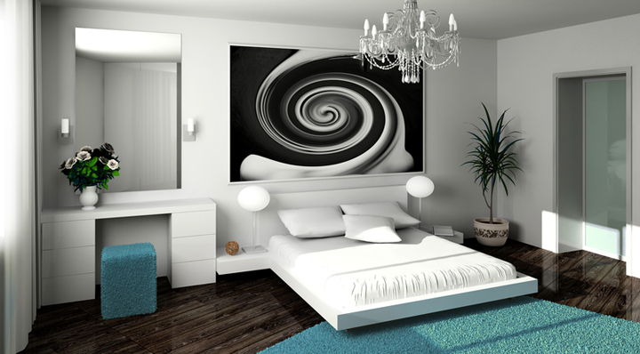 alfombra en la habitacion