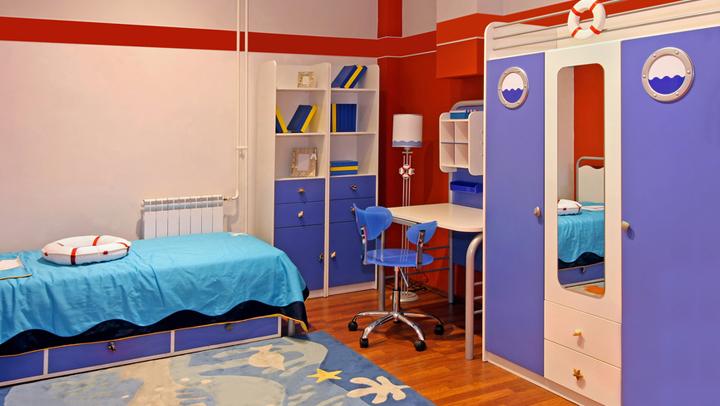 opciu00f3n es decorar la habitaciu00f3n con distintas tonalidades de azul ...