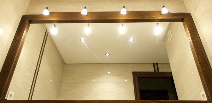 Espejos para el ba o con luz for Espejo pared completa