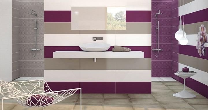Azulejos de colores para el cuarto de ba o for Habitaciones con azulejos