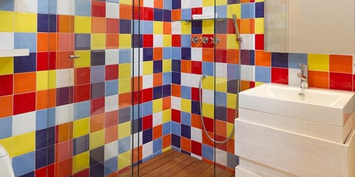 Azulejos Para Baño Leroy:Azulejos de colores para el cuarto de baño