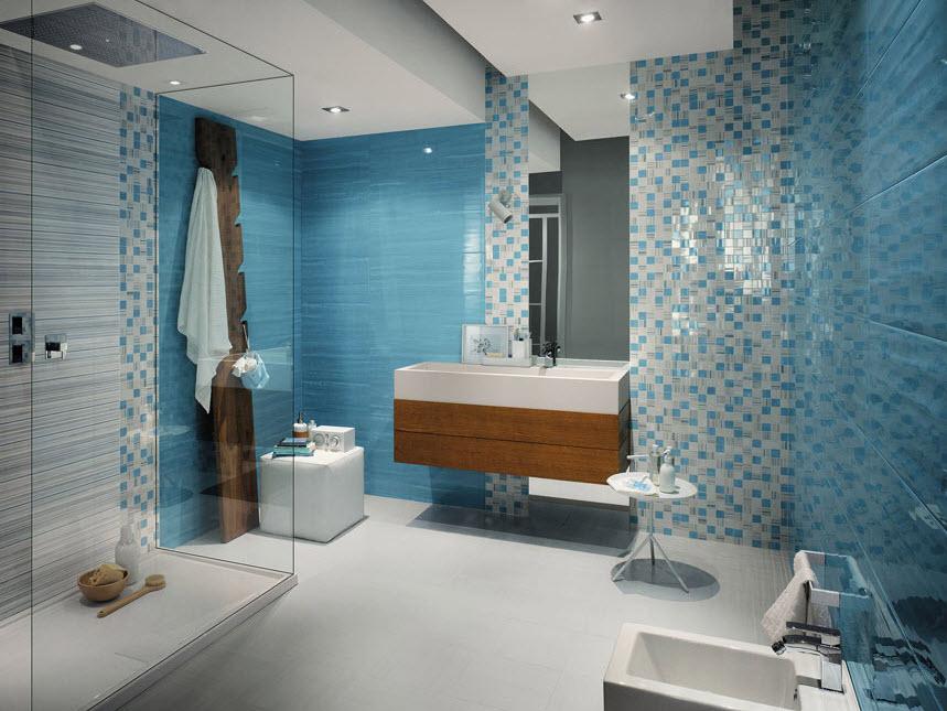 Azulejos de colores para el cuarto de ba o for Azulejos cuarto bano
