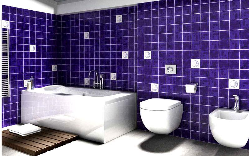 Azulejos de colores para el bano24 - Azulejos mosaicos para banos ...