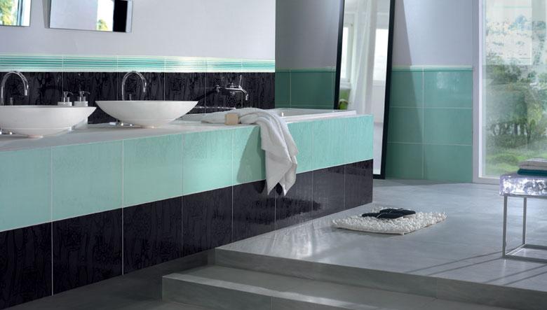 Azulejos de colores para el bano35 for Colores de azulejos para banos