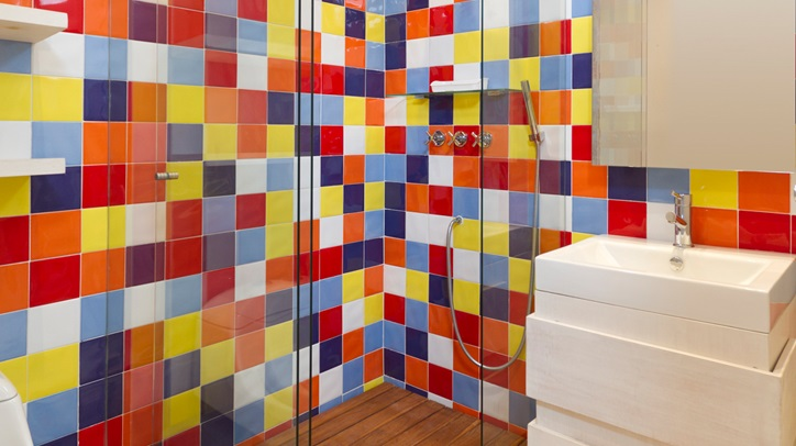 Azulejos de colores para el bano40 for Bano de color colores