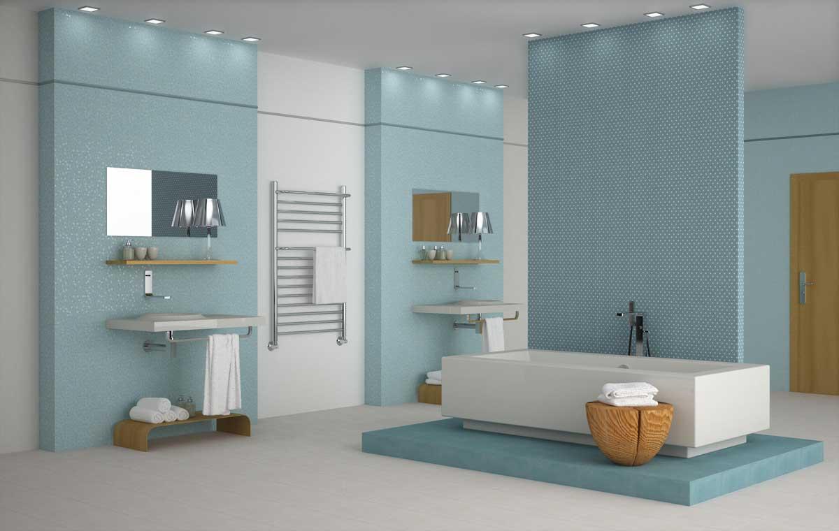 Azulejos de colores para el cuarto de ba o - Papel para azulejos de bano ...
