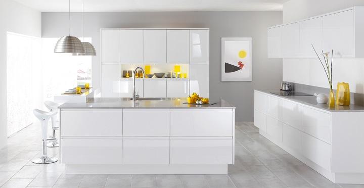 Fotografias de cocinas de color blanco