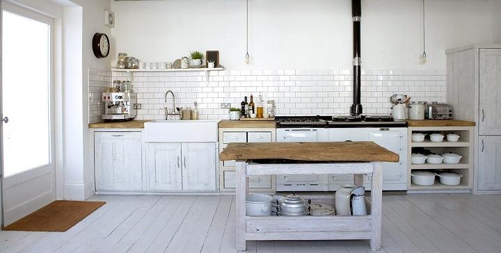 Fotos de cocinas de color blanco - Colores cocinas pequenas ...