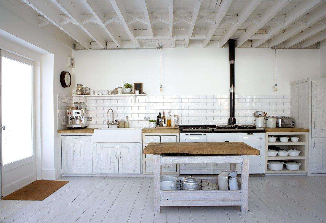 Fotos de cocinas de color blanco - Cocinas decoradas en blanco ...