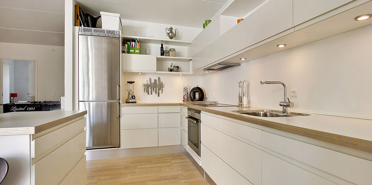 Fotos de cocinas de color blanco22 for Colores para cocinas fotos