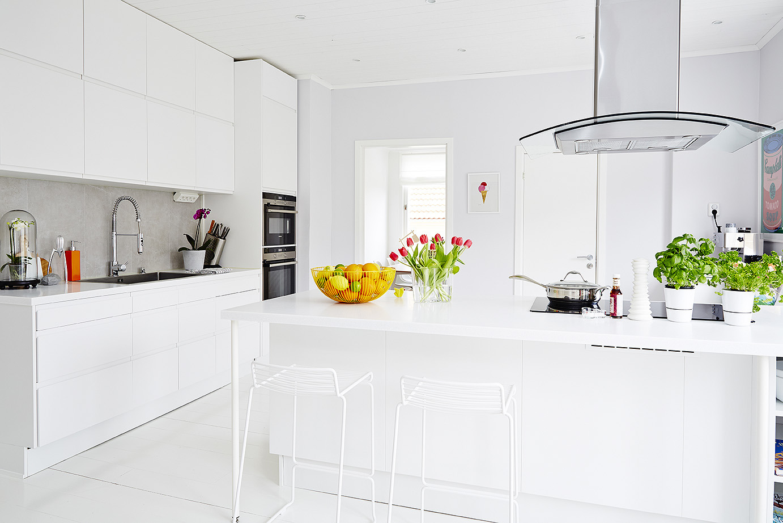 Fotos de cocinas de color blanco for Cocinas modernas color blanco