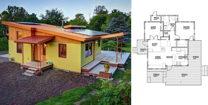 Planos de casas pequeas de campo cd planta de casa de - Casas de madera pequenas ...