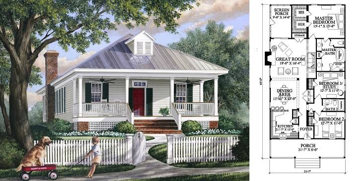 Planos de casas de madera5