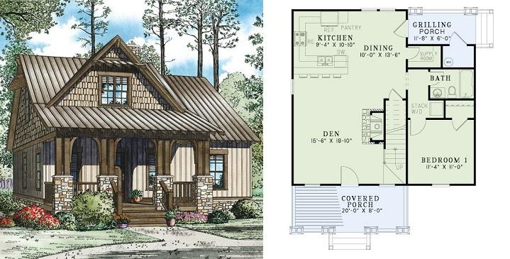 Planos de casas de madera6
