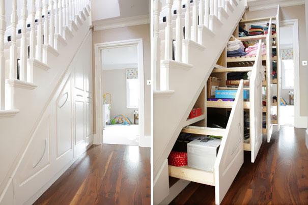 almacenaje debajo de una escalera