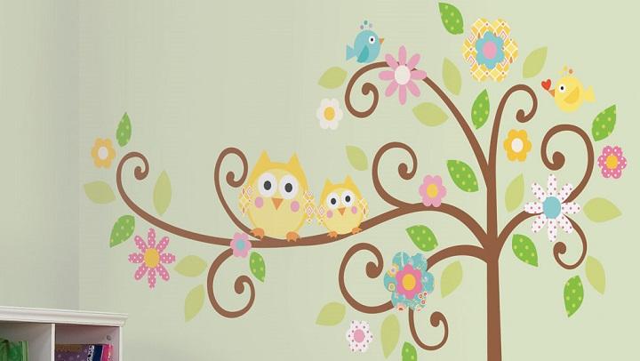 Papel pintado con b hos - Dibujos para paredes de bebes ...