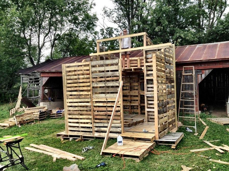 Casas hechas con palets2 - Casas con palets de madera ...