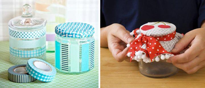 C mo adornar frascos for Frascos decorados para navidad