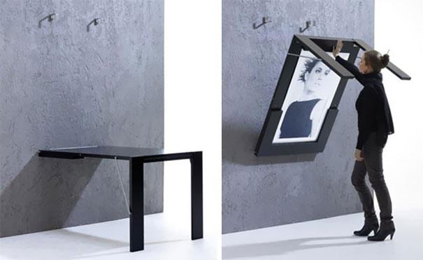 cuadro y mesa plegable