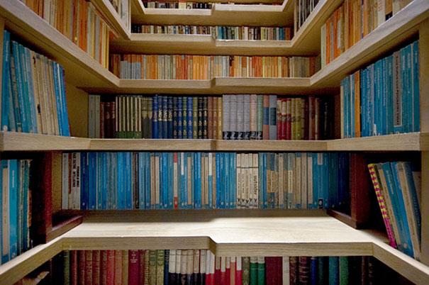 escalera para almacenar libros 2