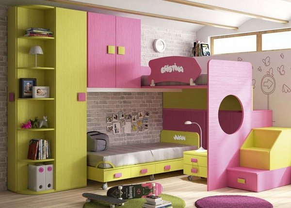 Fotos de dormitorios infantiles for Habitacion infantil juvenil