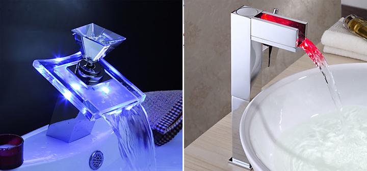 Grifos con tecnología LED