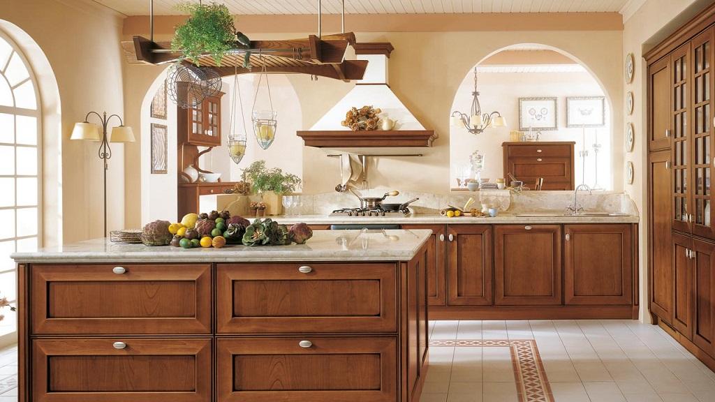 Materiales para los muebles de la cocina for Gabinetes de cocina de madera modernos