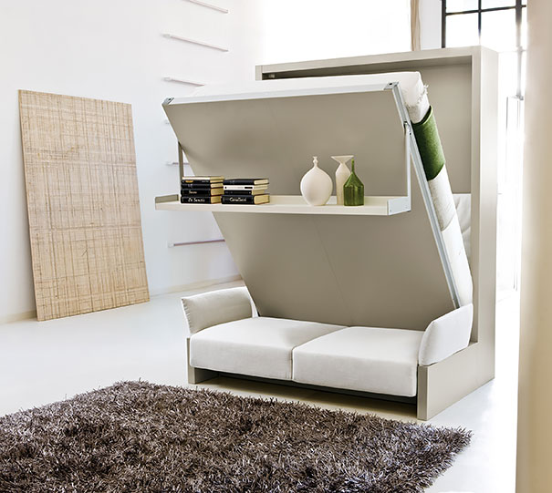 pared cama y sofa