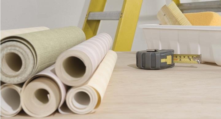 paredes con papel tapiz