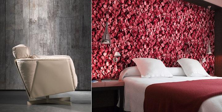 Paredes decoradas con papel tapiz - Papel de empapelar paredes ...
