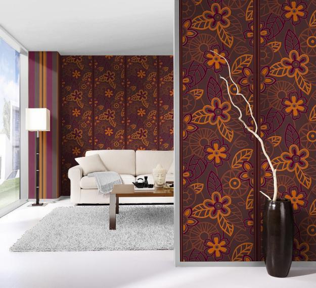 Paredes decoradas con papel tapiz22 - Paredes decoradas con papel ...