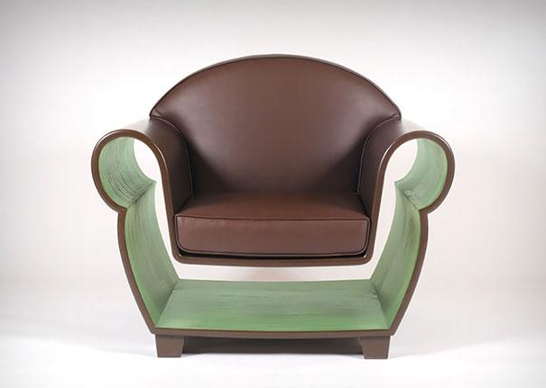 silla con almacenaje