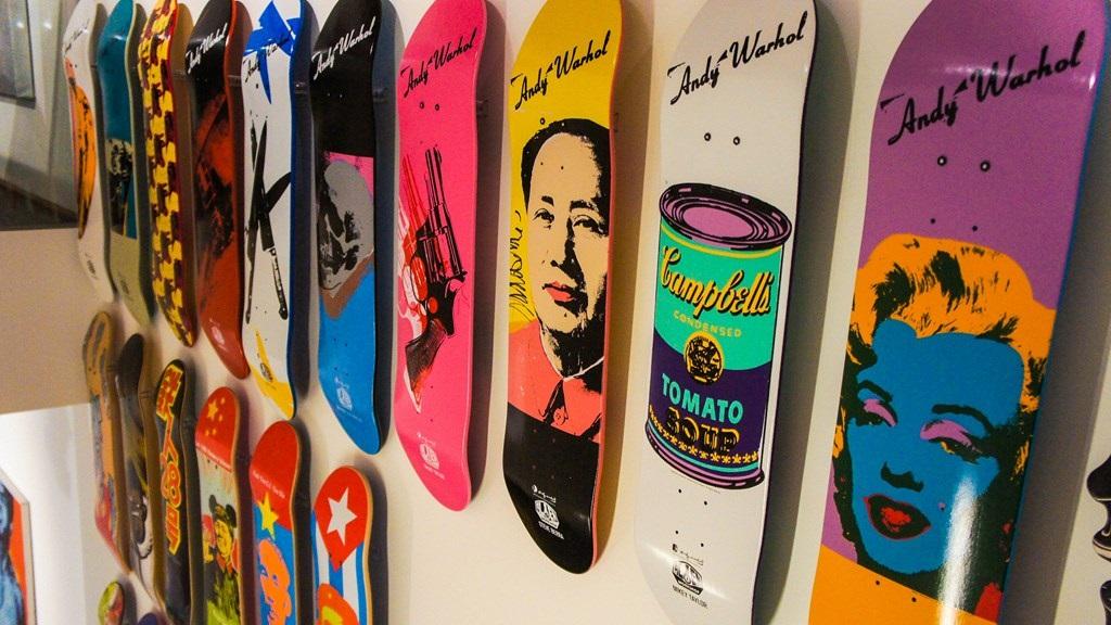 tablas de skate Andy Warhol