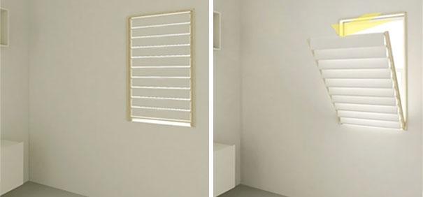 25 soluciones para ganar espacio en casa - Tendedero de pared abatible ...