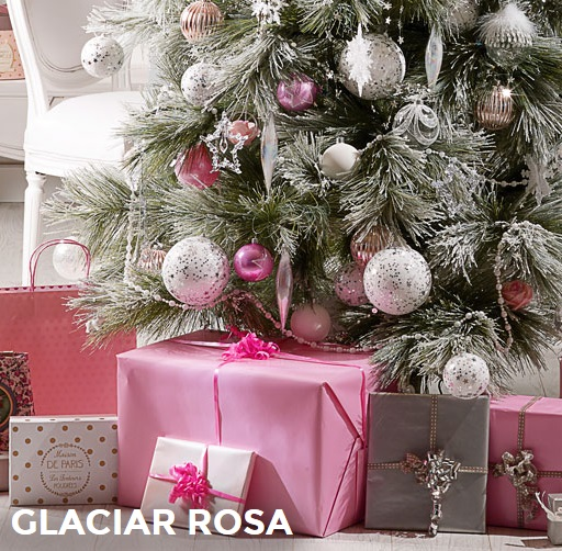 Arbol de navidad masions du monde glaciar rosa - Arboles de navidad rosa ...
