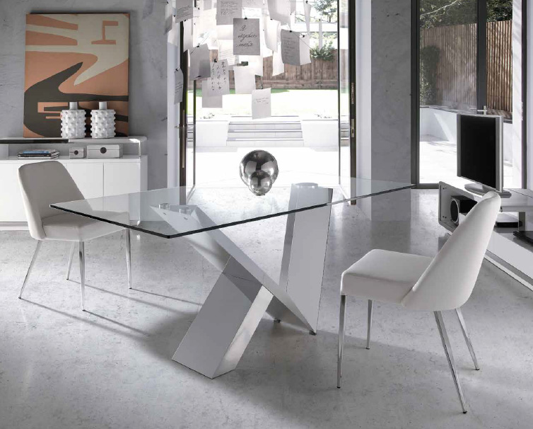 Fotos de comedores modernos - Mesas de comedor de cristal y acero ...