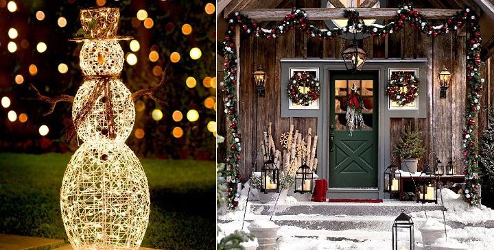 Iluminacion jardin Navidad