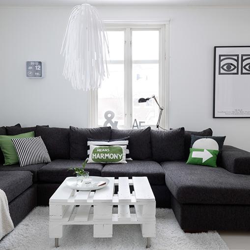 Ambientes en blanco y negro - Casas decoradas con ikea ...