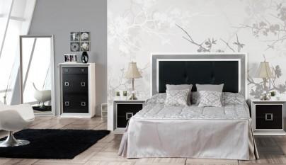 Ambientes en blanco y negro for Dormitorios modernos en blanco y plata