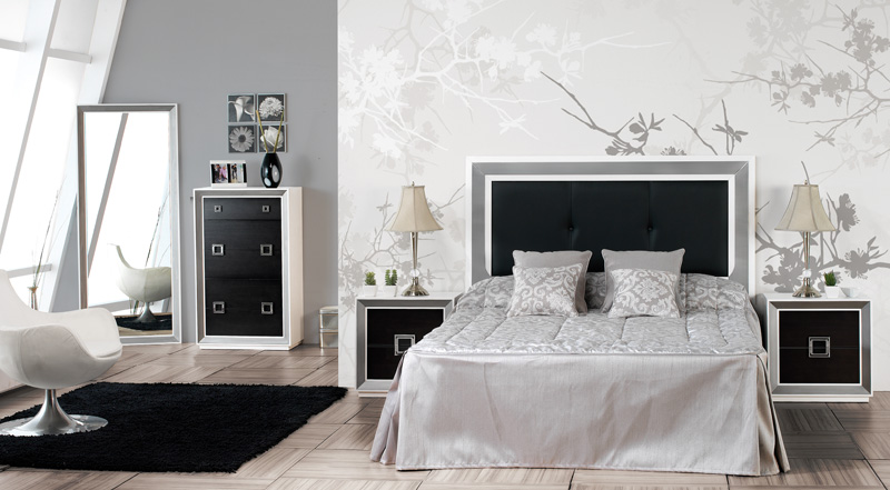 Ambientes en blanco y negro - Dormitorios matrimonio muebles la fabrica ...