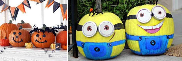 Calabazas para decorar en halloween - Decorar una calabaza de halloween ...