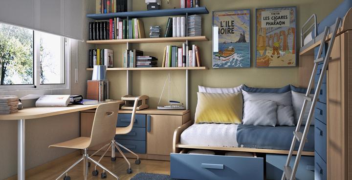 Consejos para decorar habitaciones peque as - Aprovechar espacio habitacion pequena ...