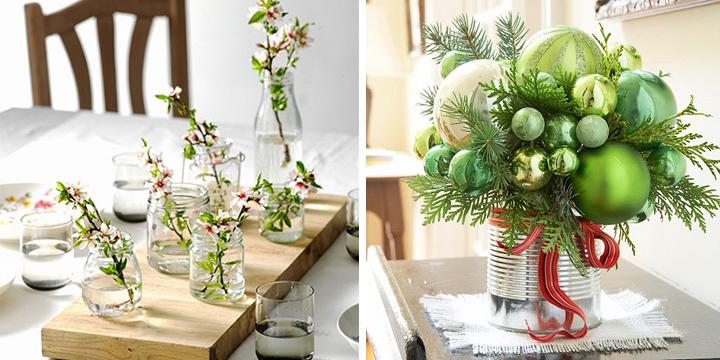 Ideas De Decoracion Para Navidad ~ otra buena idea para unos centros de mesa creativos puede