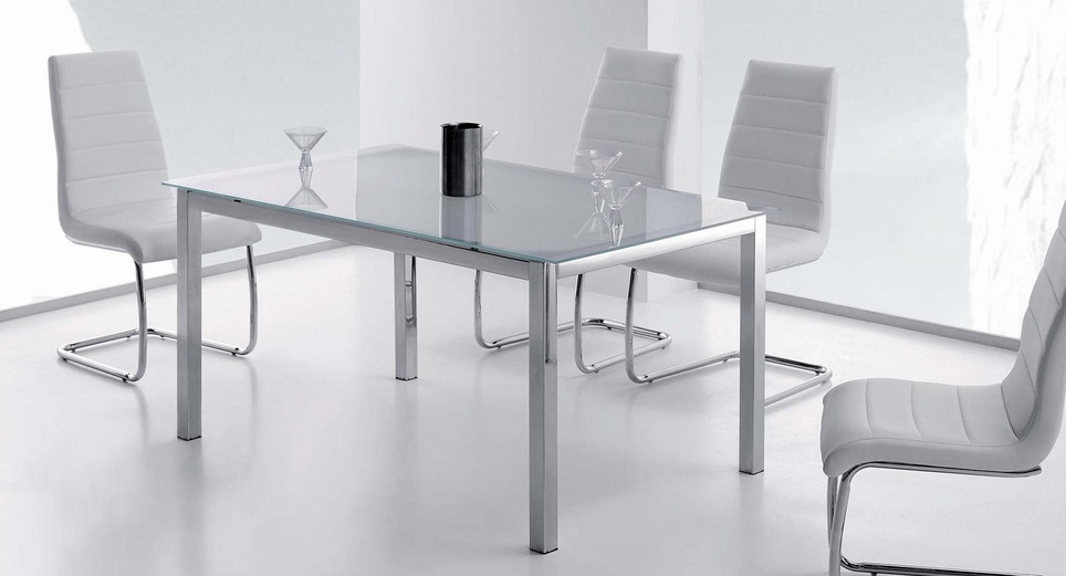Decorablog revista de decoraci n for Mesas de cristal extensibles para comedor