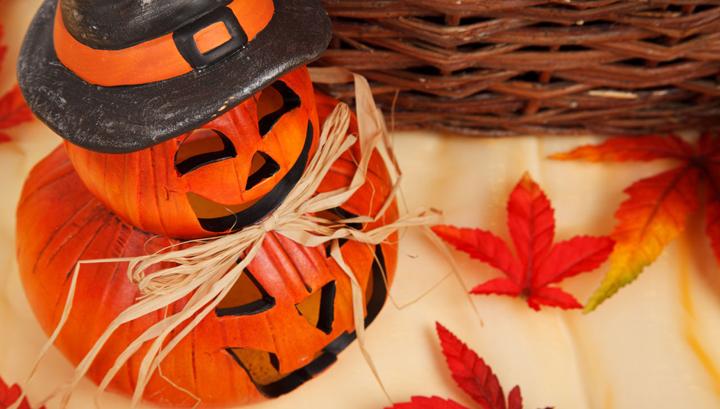 Recibidor decorado para Halloween